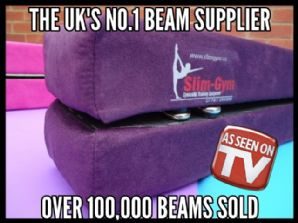 2.1Mtr (7FT) Folding Balance Beam - Faux Suede Range - 'PURPLE'